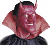 Røde djævlehorn med lim Halloween voksen