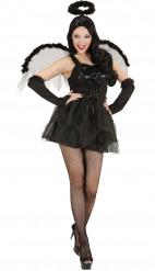 Halloween-kostume sort engel kvinde