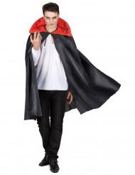 Sort kappe med rød krave Halloween
