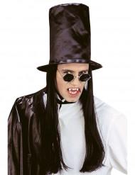 Høj hat med sort hår Halloween