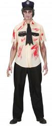 Kostume zombie politimand Halloween