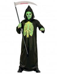 Skeletkostume med snitsår halloween barn