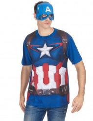 Kostume t-shirt og maske Captain America™ film 2