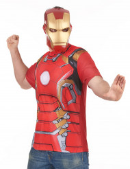 T-shirt og maske Iron Man™ movie 2 voksen