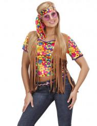 Brun hippievest med frynser voksen
