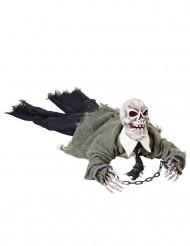 Halloween skeletdekoration med lys od lyd