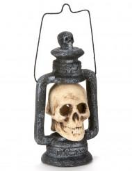 Lanterne lysende kranie 35cm Halloween