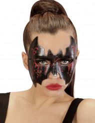 Blodig flagermusmaske Halloween
