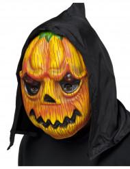 Græskar-maske med hætte voksen Halloween