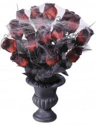 Roser røde med spindelvæv 35 cm Halloween