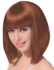 Paryk Brunt hår Pagefrisure