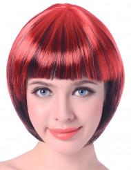 Paryk kort rød og sort til kvinder