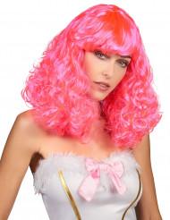 Paryk pink halvlang bølgettil kvinder