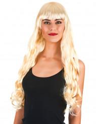 Paryk med ultralangt blondt hår