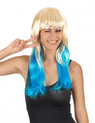 Paryk blond og blå til kvinder