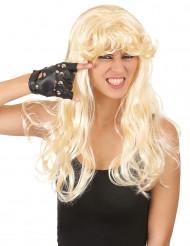Paryk Blond med krøller og pandehår