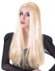 Paryk lang blond til kvinder - 60 cm