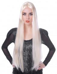 Paryk meget lang blond til kvinder 75 cm