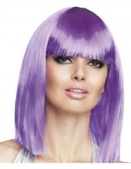 Paryk firkantet halvlang violet til kvinder