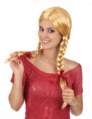 Paryk Blond med fletninger