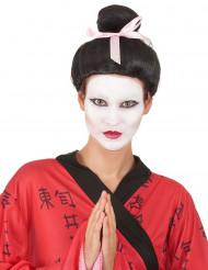 Mørkebrun geisha paryk med knold til kvinder