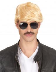 Kort blond paryk Voksen