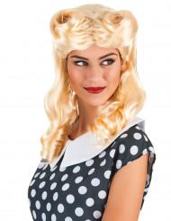Blond Proptrækkerkrøller paryk Kvinde