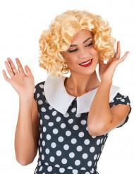 Blond stjerneskudsparyk Kvinde