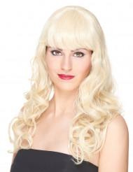 Luksuriøs Blond Bølget Paryk med Pandehår Kvinde - 221 g