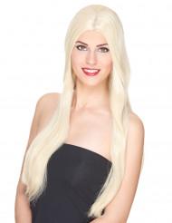 Meget Lang Luksuriøs Blond Paryk Kvinde