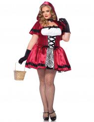 Rødhætte -kostume kvinde plus size