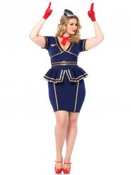 Stewardesse udklædning til voksne plus size