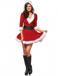 Kostume kort rød kjole til kvinder jul