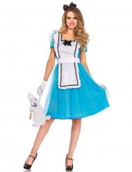 Blå eventyrsprinsesse - kostume voksen