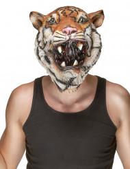 Tigermaske af Latex Voksen
