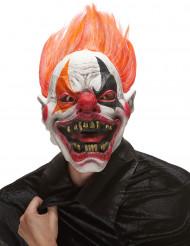 Helvedes Klovnemaske af Latex Halloween Voksen
