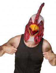 Hanehoved-maske af Latex voksen