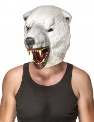 Isbjørnemaske i Latex Voksen