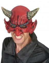 Dæmon-halvmaske i Latex Halloween Voksen