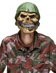Soldaterdødningehoved-maske i Latex Halloween Voksen