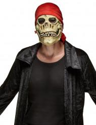 Pirat-dødningehoved Maske i Latex Halloween Voksen