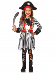Pirat strib - Piratkostume til piger