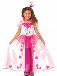 Lyserødt prinsessekostume pige