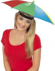 Multifarvet Paraplyhat Voksen
