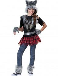Kostume ulv til piger - Premium