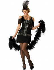 Udklædning sort Charlestonkvinde - Premium