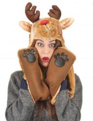 Rensdyrhue med Halstørklæde jul Voksen