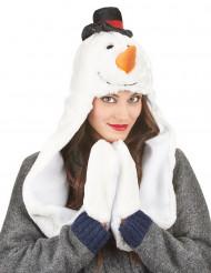 Snemandshue med Halstørklæde jul Voksen