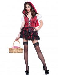 Kostume lille rødhætte til voksne - premium