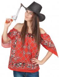 T-shirt cowboy til kvinder